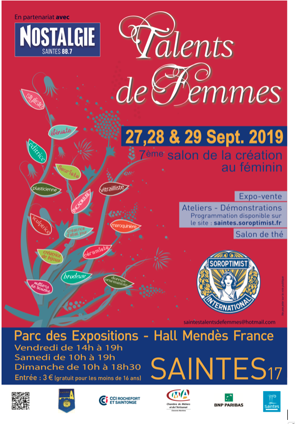 salon talents de femmes saintes 2019